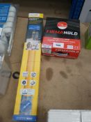 Framing nails, lawn mower battery and a small blind