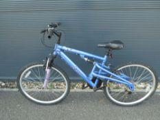 Light blue girls mountain cycle