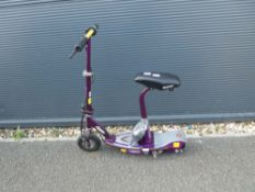 Razor purple electric scooter with charger