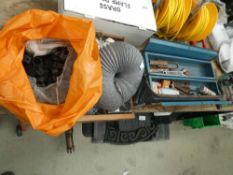 Large box of screws, washers, etc plus a tool box