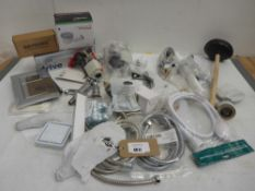 Plumbing accessories including shower heads, hoses, tap aerators, trap & waste, valves, taps etc