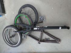 2 Haro BMX frames and 2 sets of wheels