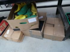 5 boxes containing shoe soles and shoe blanks