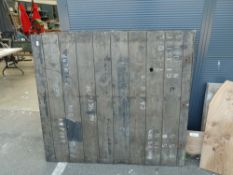 2 vintage Vauxhall shipping crate panels