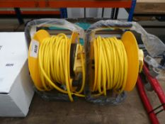 2 x 110v cable reel