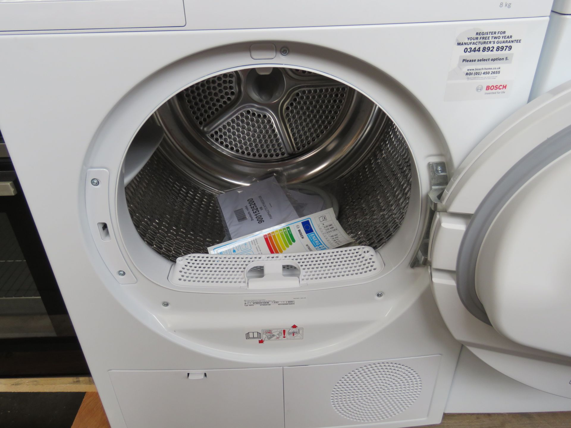 WTN83201GBB Bosch Tumble dryer - Image 2 of 2