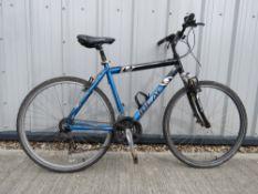 4021 Cross mountain bike in black and blue