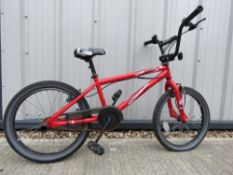 Rated X BMX bike in red