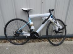 Ridley light weight racing bike in two tone blue