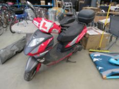 KX61 EBM Lexmoto Gladiator step through scooter in red and grey MOT: None