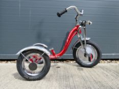 Schwinn tricycle, child's tricycle in red, no saddle