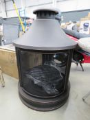 Cooking pit chiminea