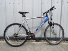 Raleigh stone fly mountain bike in silver and blue