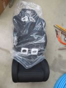 Boxed OMP car seat in black