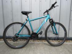 Apollo mountain bike in blue