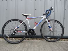 Major X racing bike in white and blue