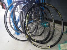 Seven bike tyres