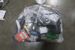 Bag containing IT and electrical cabling, audio visual cables, adaptors, etc.
