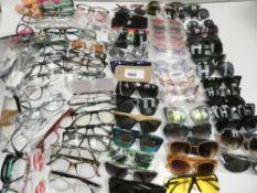 Large quantity reading glasses and sunglasses