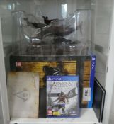 PS4 Assassins Creed Black Flag Limited Edition collectors set with figures, steel book copy of the