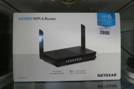Netgear Wifi 6 AX1800 router with box