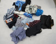 Large bag of mixed mens clothing incl. Penguin, Kirkland, Under Armour, etc.