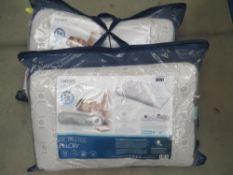 2 bagged Optisense pillows