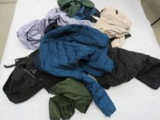 Bag containing mixed coats incl. DKNY Sizes range from S to M