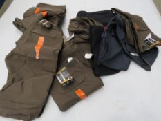 Large bag containing mens BC clothing, stretch work wear, trousers, etc.