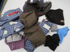 Large bag of mixed mens clothing incl. shirts, Tommy Hilfiger tops, etc.