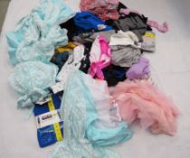 Large bag of mixed boys and girls clothing incl. tops, trousers, sleep wear, etc.