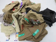 Large bag containing mixed mens quarter length trousers and shorts