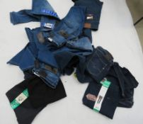 Large bag containing mixed style jeans incl. Bandolino, Levis, Replay, etc.