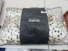 Bag containing heated blanket in a Tempur zipped bag