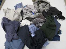 Large bag of mixed mens clothing incl. Bench, Gant, Kirkland, etc.