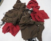 Large bag containing mixed mens Armani shirts in red, black and brown