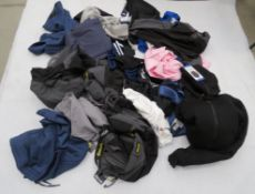 Large bag containing clothing incl. Tommy Hilfiger tops, Bench work trousers, Adidas, etc.