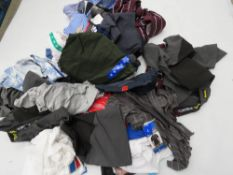 Large bag of mixed mens clothing incl. t-shirts, trousers, quarter length shorts, etc.