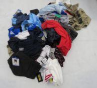 Bag of mixed mens clothing incl. shorts, polo shirts and t-shirts