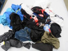 Large bag of mixed ladies clothing incl. tops, lounge wear, hoodies, etc.