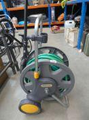 4100 Hozelock hose reel and hose