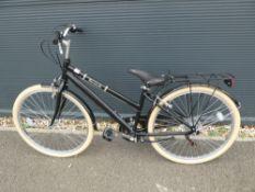 Barracuda black ladies bike