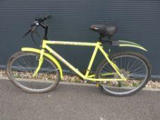 Bright green Muddyfox Streetfinder mountain bike