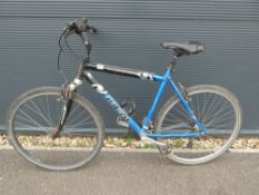 4031 Ideal blue and black mountain bike