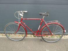 Red vintage gent's bike
