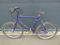 Purple Raleigh gents mountain bike