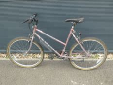 Purple Raleigh Monsoon girls mountain bike