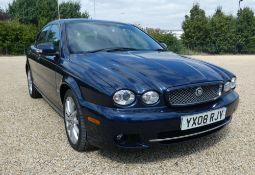 YX08 RJV, Jaguar X-Type S Auto in blue, first registered 28.03.2008, two keys, 2198cc, diesel, 4