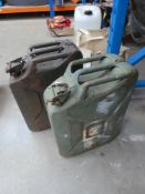 4101 Two metal jerry cans