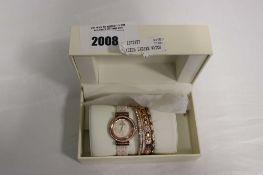 Anne Klein ladies wristwatch and bangle accessories